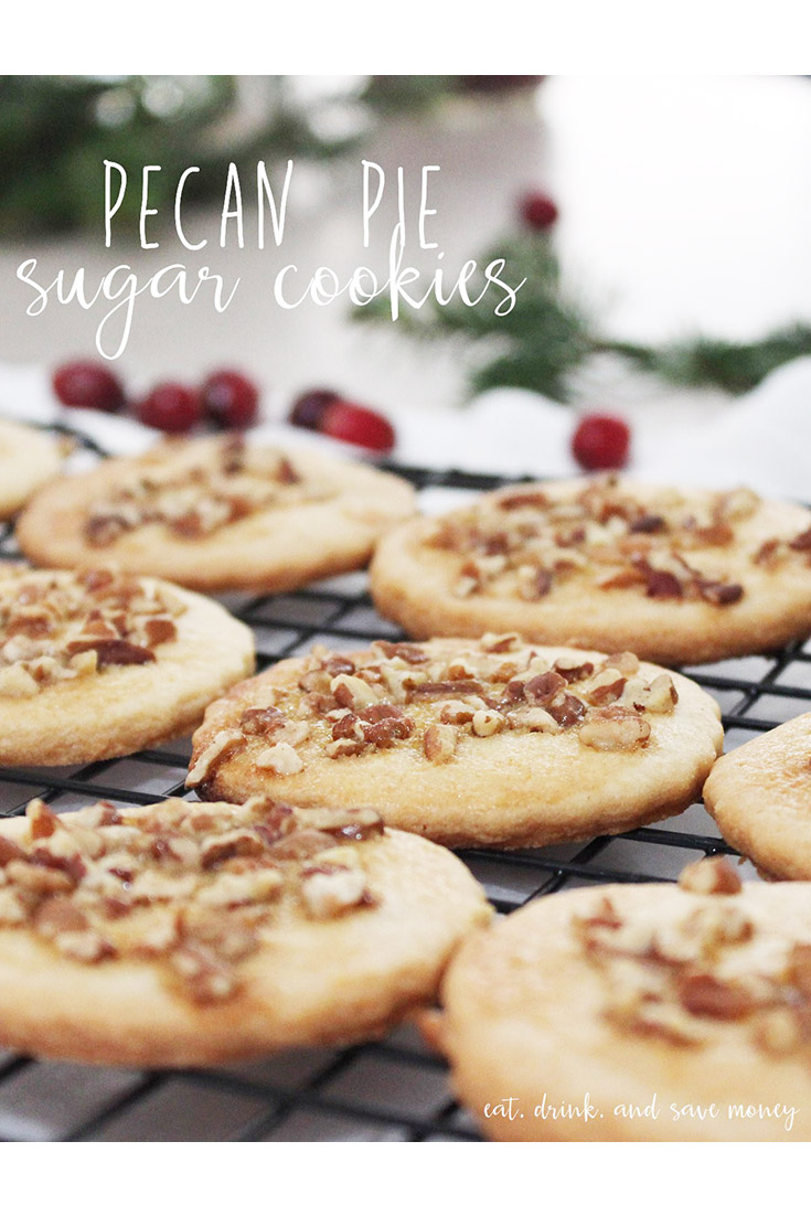 pecan pie sugar cookies are perfect for the holidays
