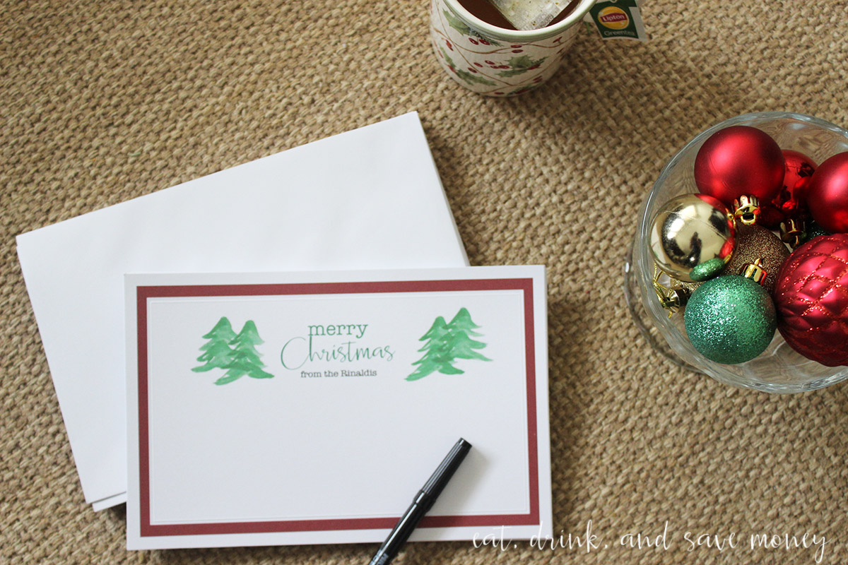 Printable Merry Christmas cards