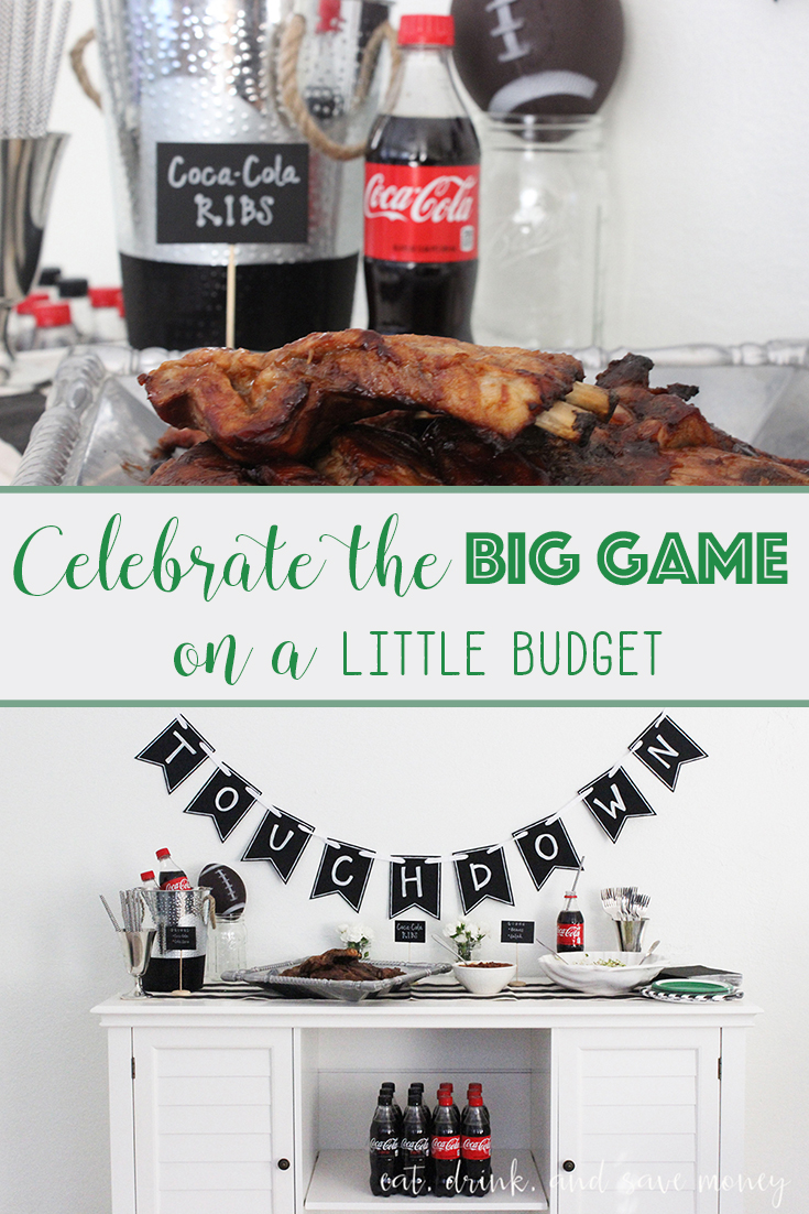 Celebrate the big game on a little budget. You don't have to spend a lot of money to throw a fabulous home bowl party. Check out the recipe for Coca-Cola ribs, and find out how to put together a stellar ice cream bar with REESE's products. #HomeBowlParty #CollectiveBias ad   www.eatdrinkandsavemoney.com
