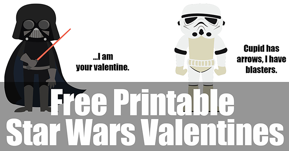 picture about Printable Star Wars Images known as Printable Star Wars Valentines - Take in, Consume, and Help you save Revenue