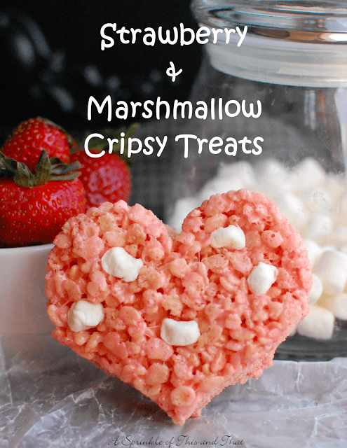Strawberry and Marshmallow Crispy Treats Poster
