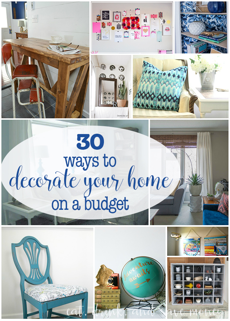 30 ways to decorate your home on a budget eat drink for Pinterest home decorating on a budget