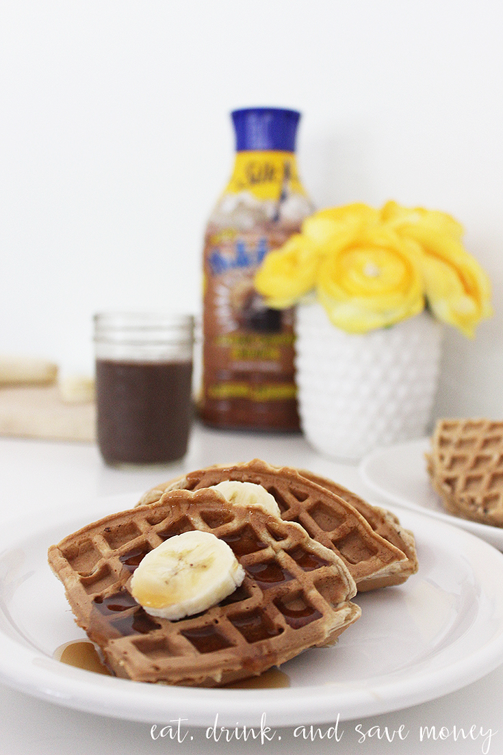 Nutchello with banana bread waffles. #HelloNutchello #CollectiveBias sponsored content