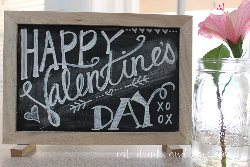 Valentine's Day Chalk board