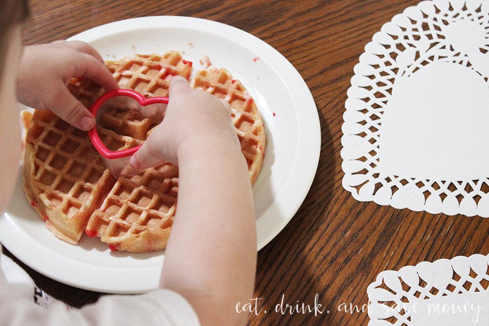 Valentines Day waffles
