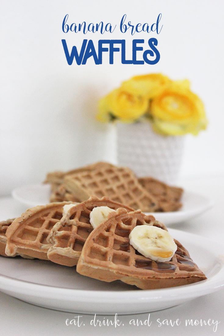 Banana bread waffles are so delicious. Everyone needs this simple recipe for banana nut bread waffles or keep the nuts out for simple banana bread waffles. Love this recipe!