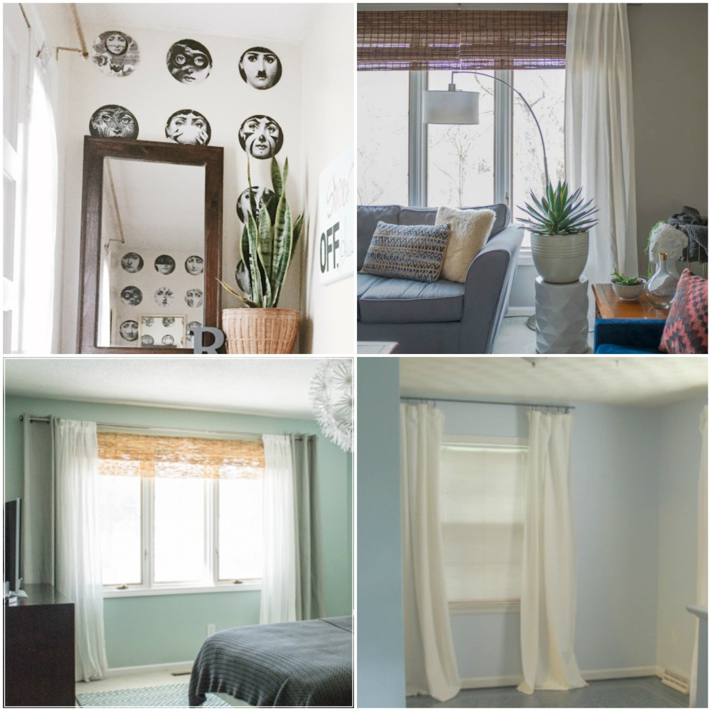 Wall paper and blinds on a budget