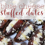 Blue cheese stuffed dates for Food Waste Friday