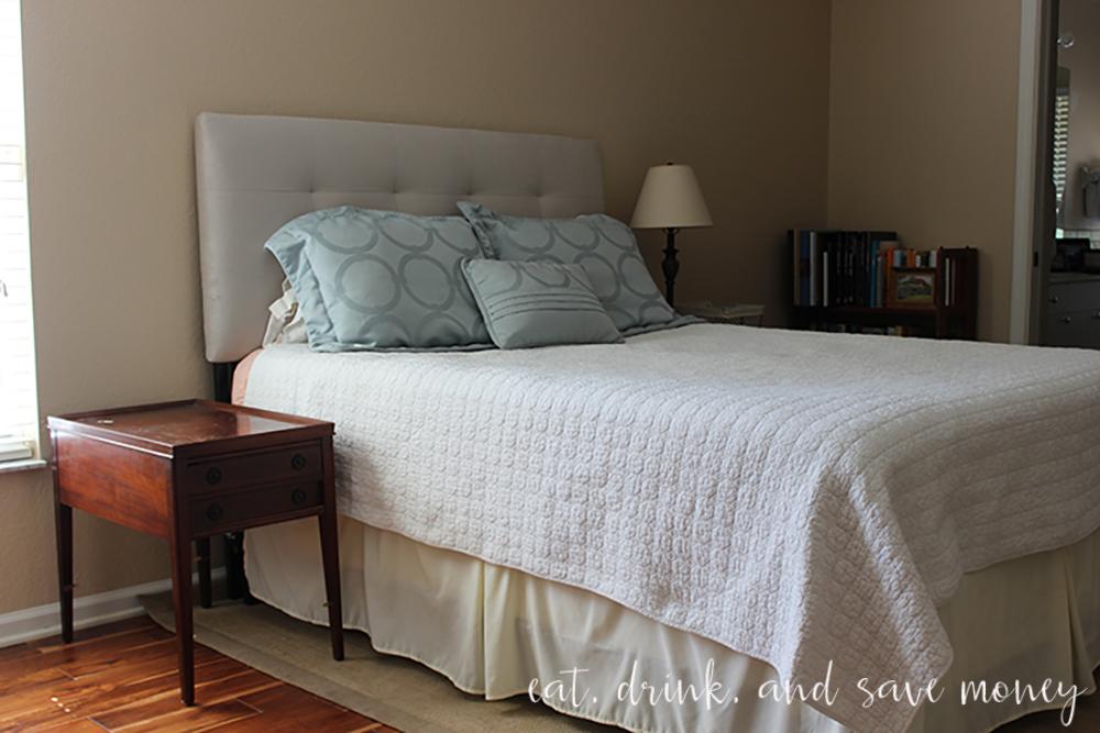 work in progress master bedroom