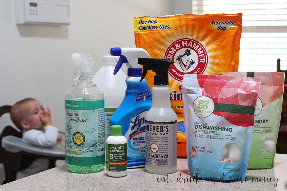 Green cleaning supplies don't have to cost a lot of money