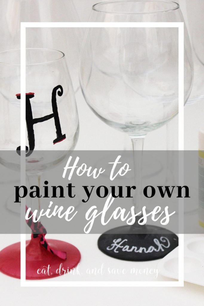 How to paint your own wine glasses. DIY painted wine glasses