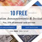 Get 10 FREE Graduation Announcements + 25% off Tiny Prints