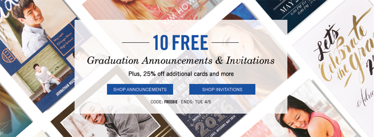 get 10 free graduation announcements 25 off tiny prints eat