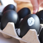 chalk easter eggs