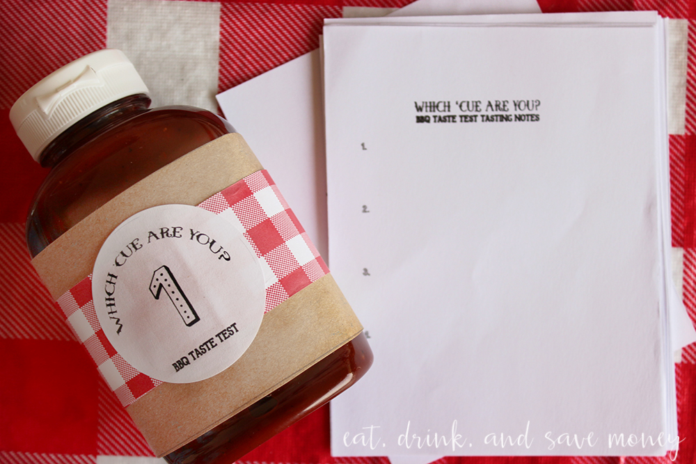 BBQ taste test party printable labels and tasting notes sheet. Host your own bbq taste test party!