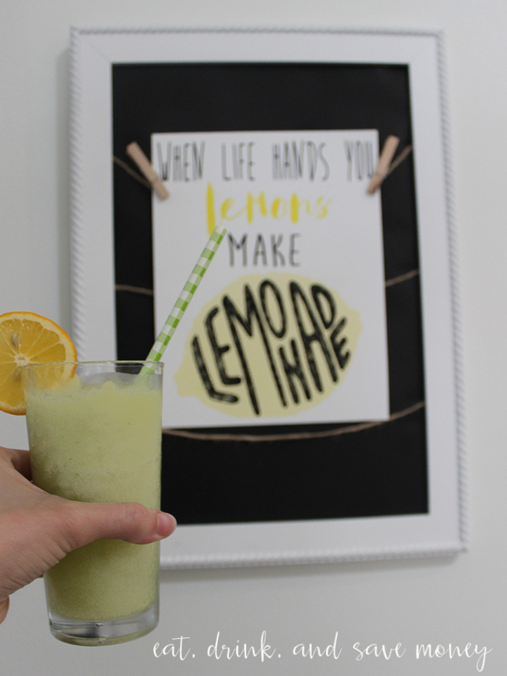 Boozy lemonade recipe and printable for when life gives you lemons make lemonade