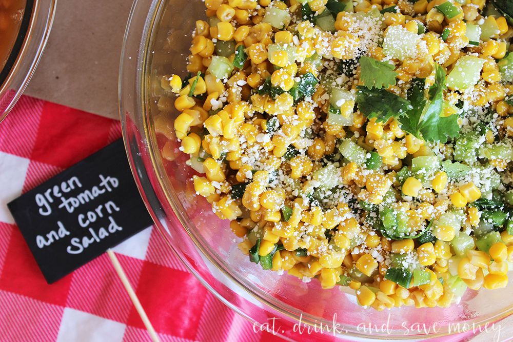 Green tomato and corn salad recipe