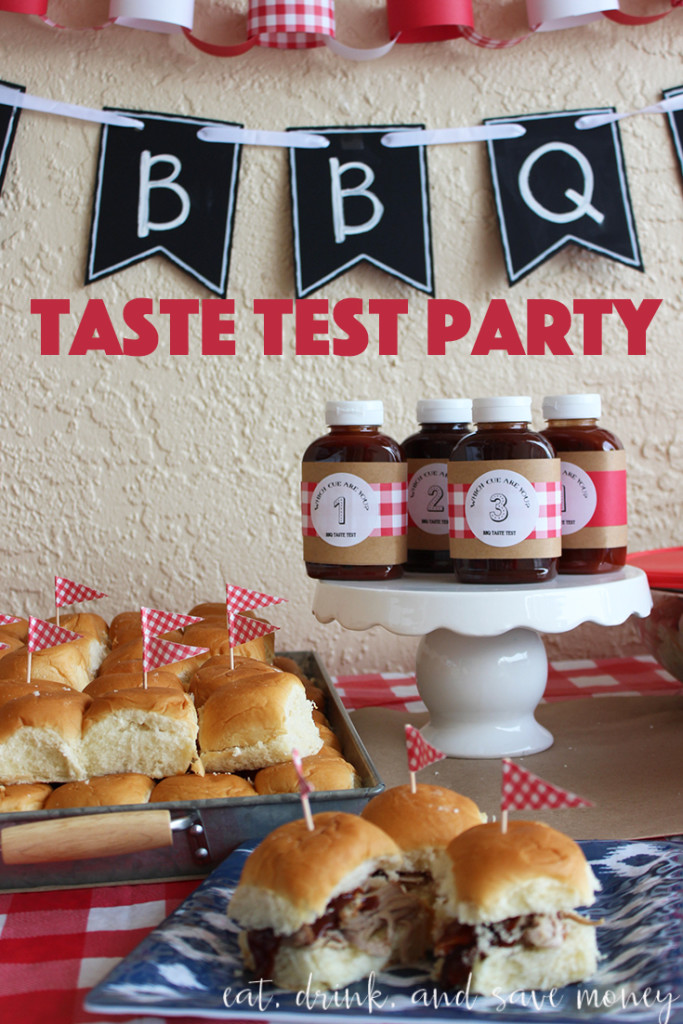Host a bbq taste test party with Heinz BBQ sauces. It's so much fun to get friends together for party to taste all four of the different sauces. #Madewiththemasters #HeinzBBQ