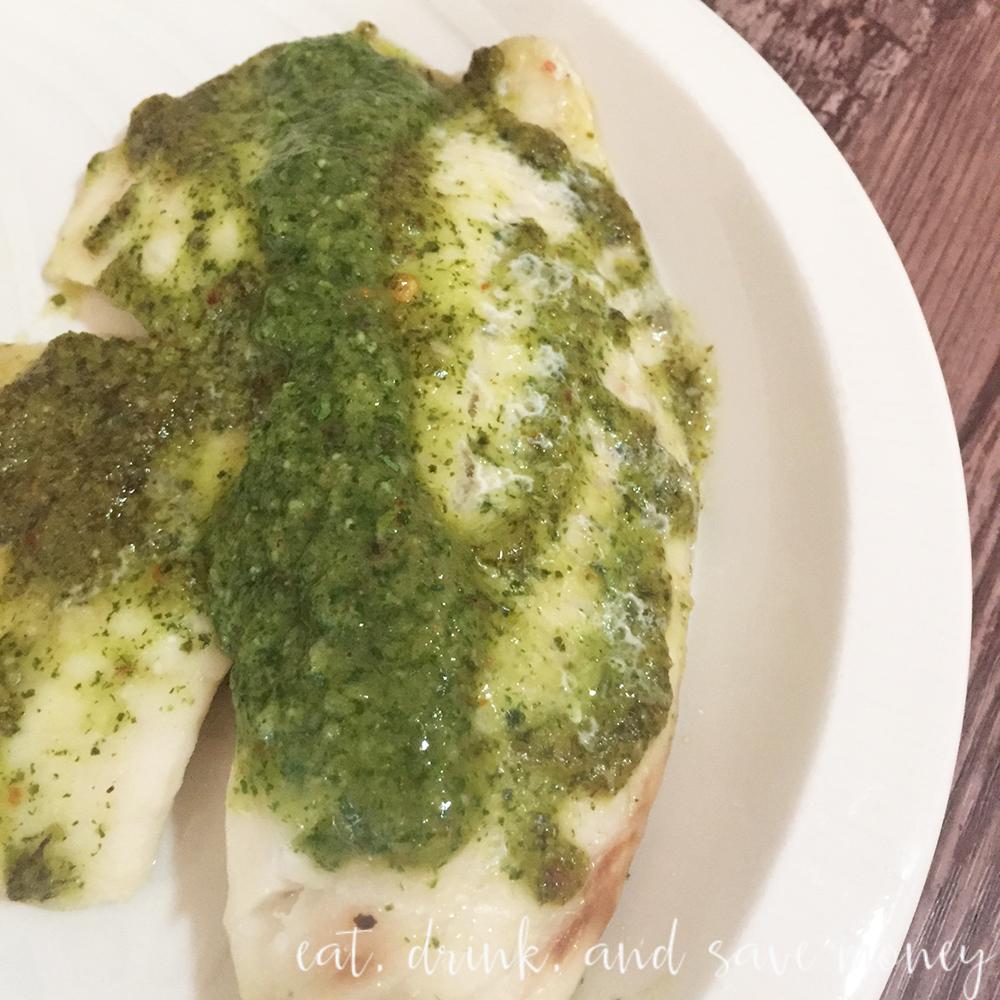Tilapia with chimichurri sauce