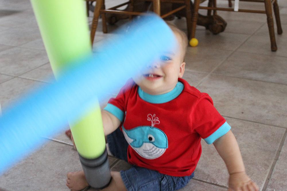 Jackson playing Star Wars