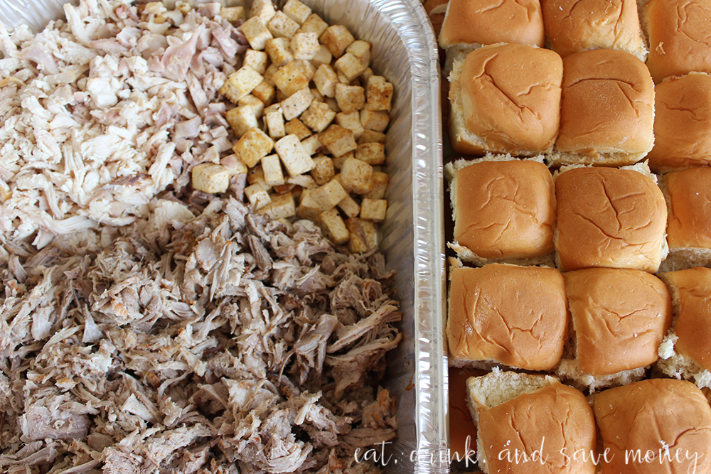 Pulled pork for the bbq sauce tasting party
