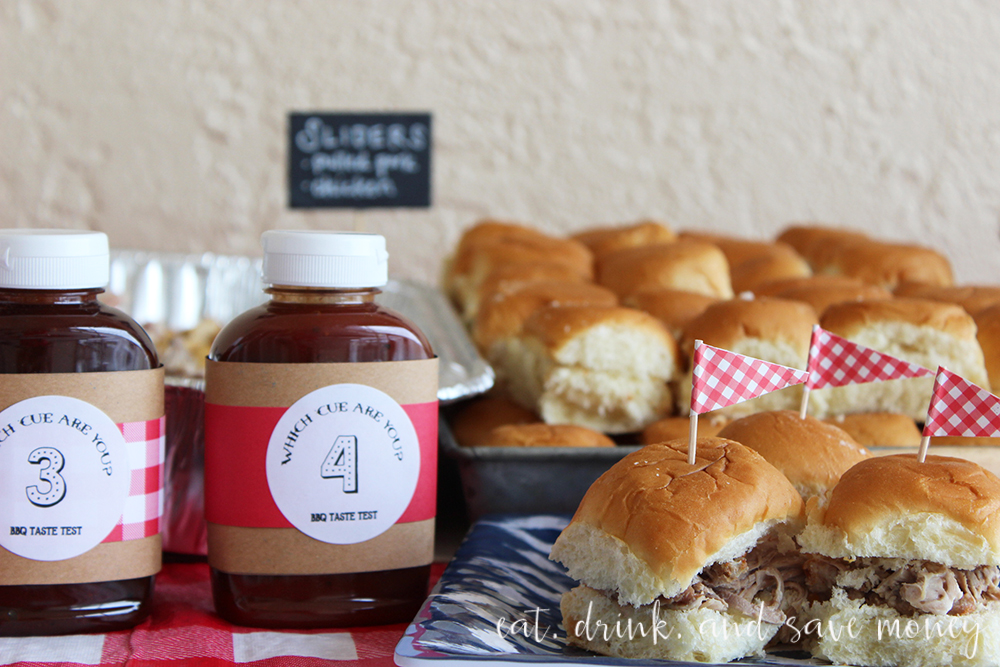 Taste test bbq sauces with sliders