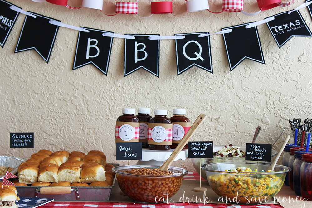 bbq taste test party tablescape