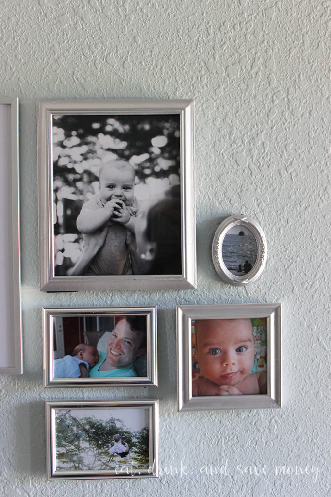 Goodwill frames for a gallery photo wall