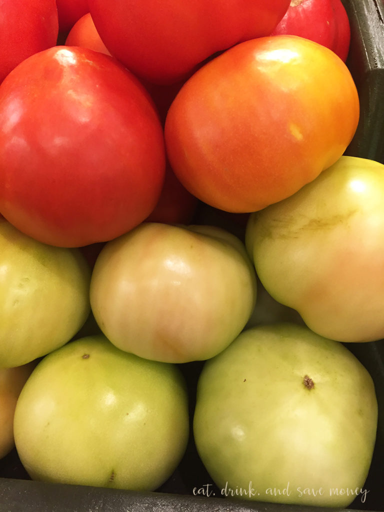 Green tomatoes fresh from florida