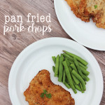 My favorite Southern style pan fried pork chops