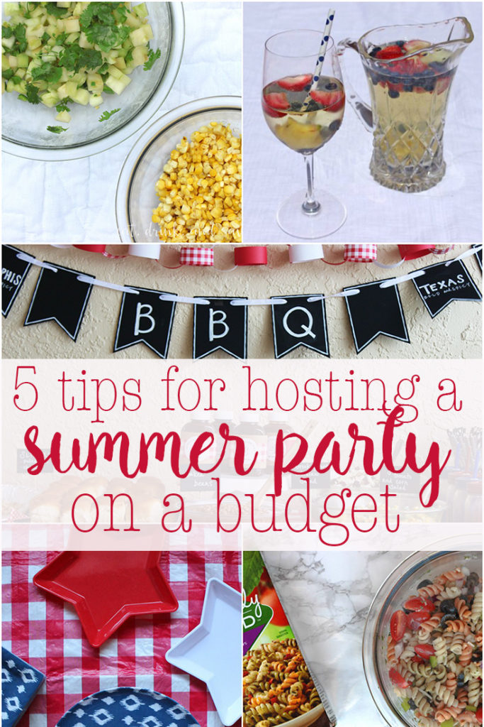 5 tips for hosting a summer party on a budget