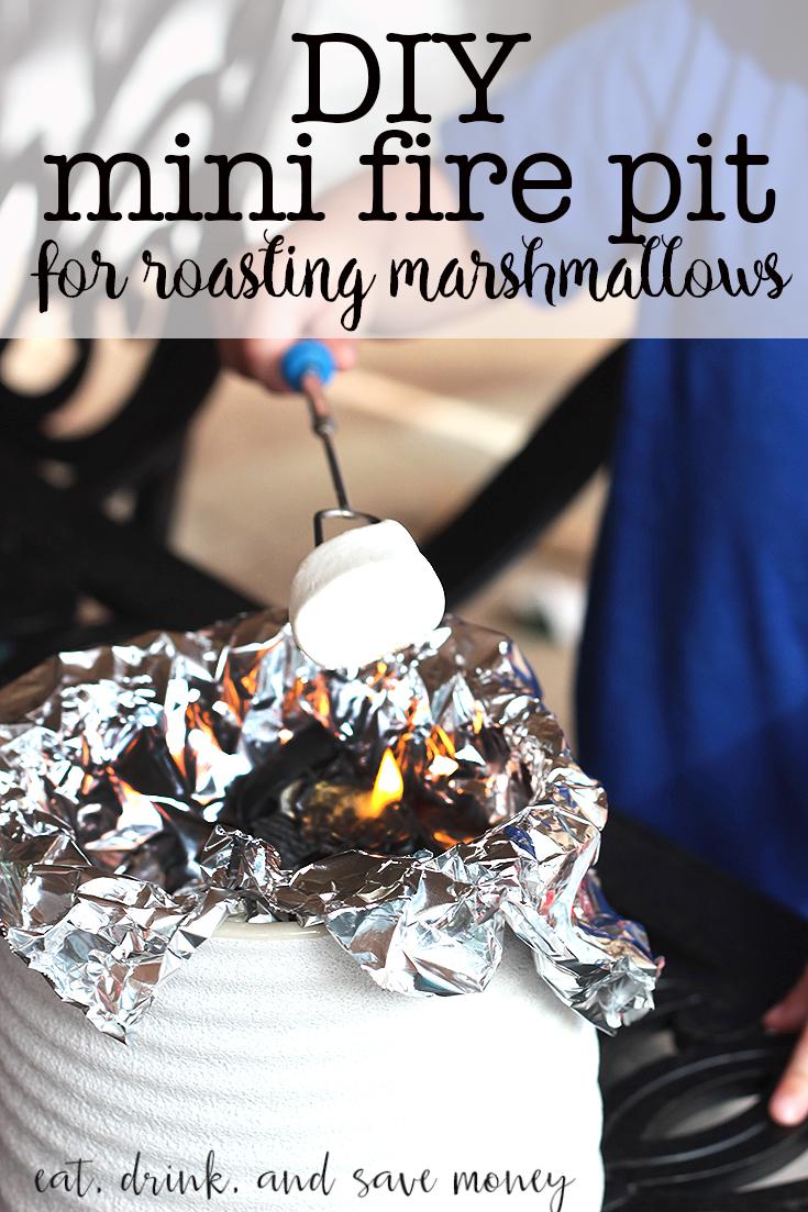 DIY mini fire pit for roasting marshmallows