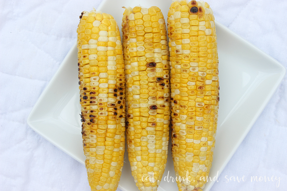 Grilled corn on the cob for my favorite green tomato and corn salad