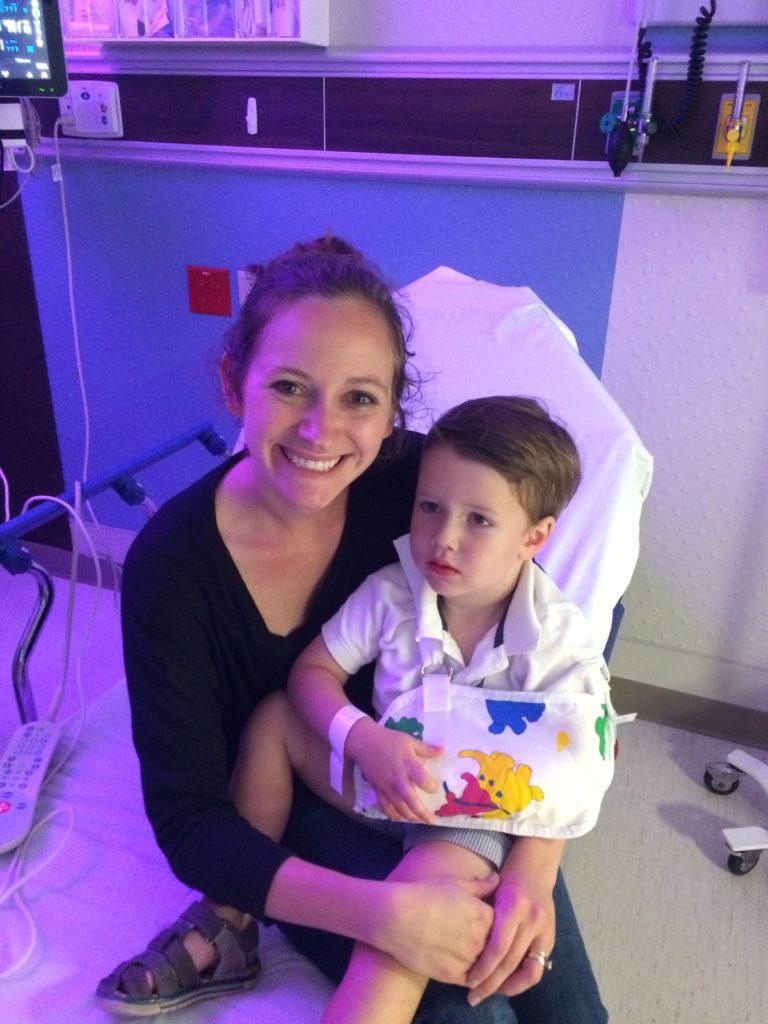 Hannah and Robert in hospital