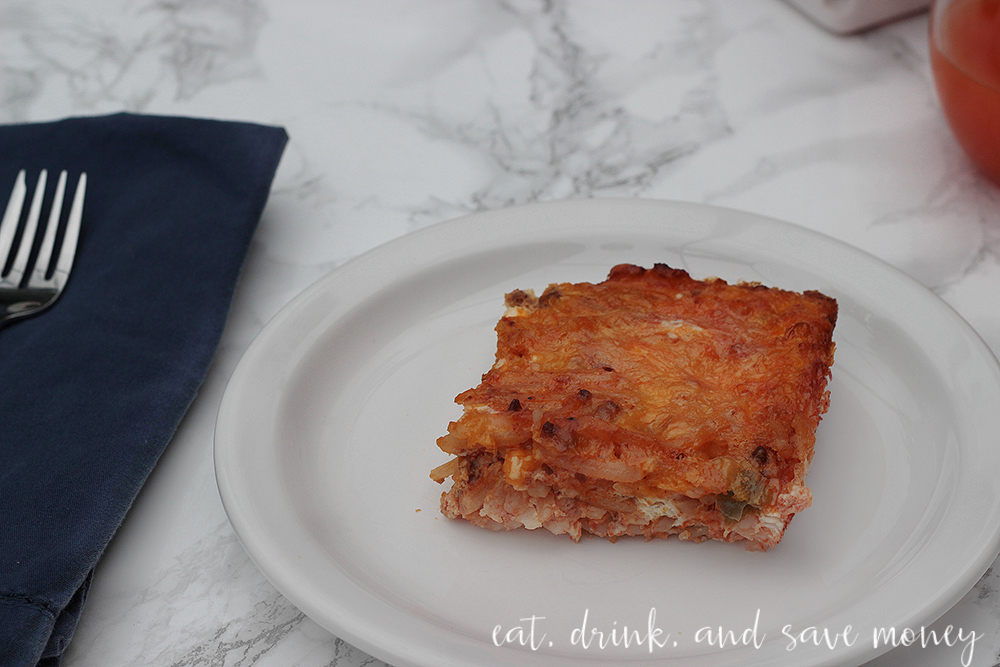 Chorizo and hash brown breakfast casserole