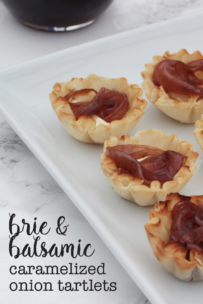 brie and balsamic caramelized onion tartlets