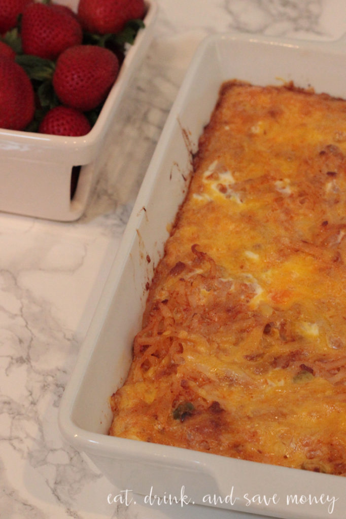 cheezy chorizo and hash brown casserole