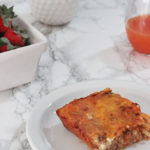 Cheesy chorizo and hash brown breakfast casserole