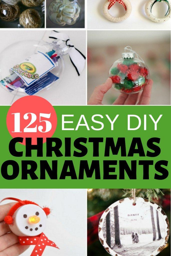 125 Easy DIY Christmas ornaments #christmas #diy #ornaments