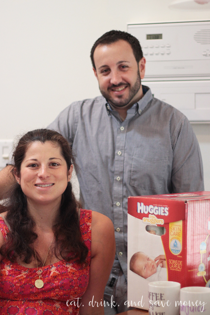 Huggies for a baby shower