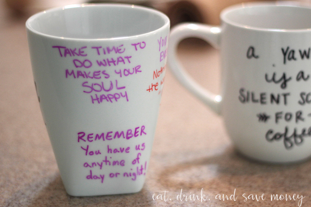 Inspirational coffee mug for new moms