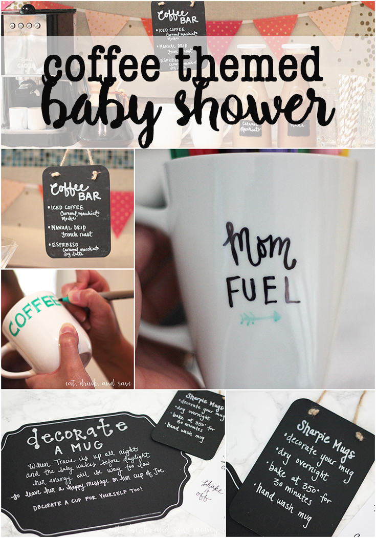 coffee themed baby shower