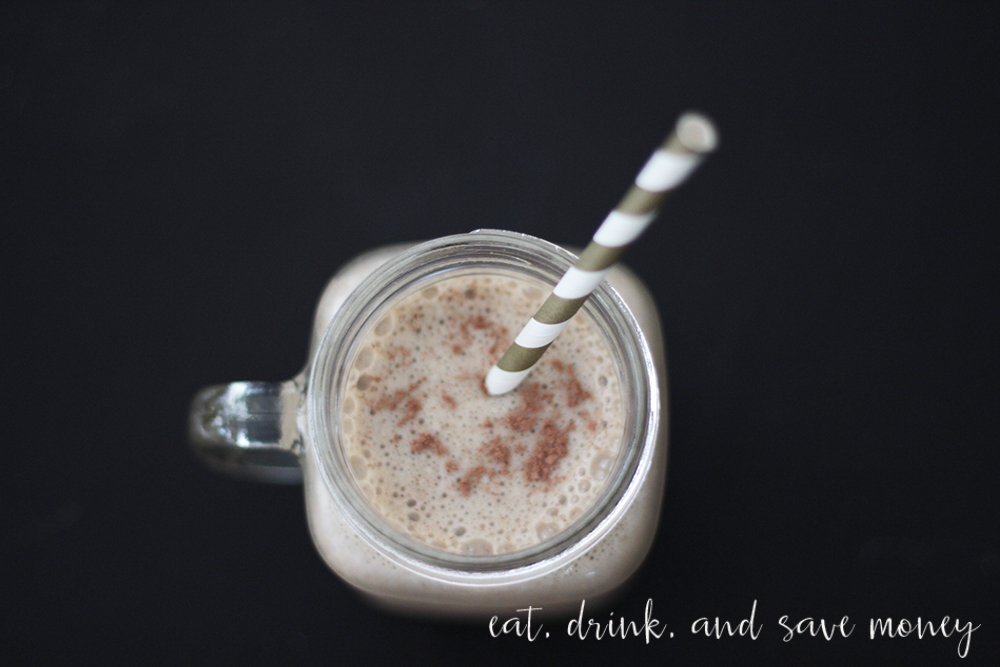 Iced coffee morning macchiato smoothie