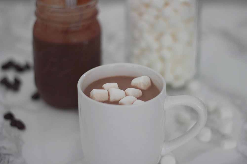 Concentrated hot chocolate sauce recipe