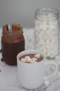 hot chocolate that everyone loves. concentrated hot chocolate sauce.