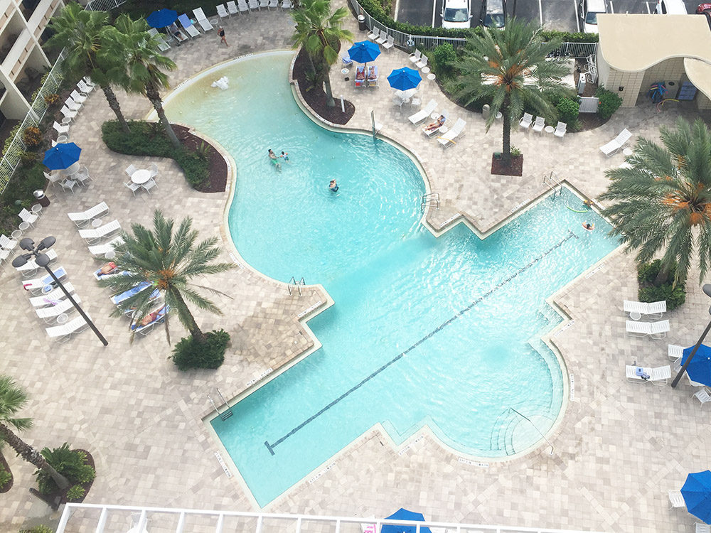 Review of Holiday Inn at Disney Springs | pool view from our room