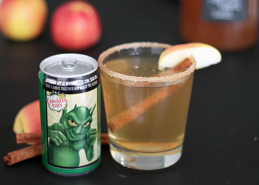 Canada dry ginger ale spiced apple cider mocktail