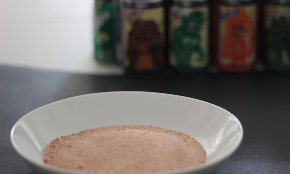 Cinnamon sugar for spiced cider mocktail recipe