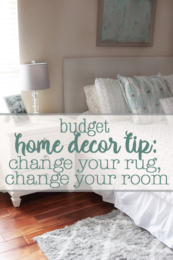 budget home decor tip: change your rug, change your room
