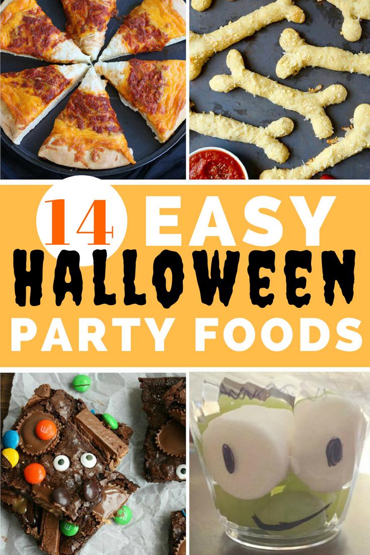 Check out these easy #HalloweenPartyFood ideas for your next #halloweenparty for kids.